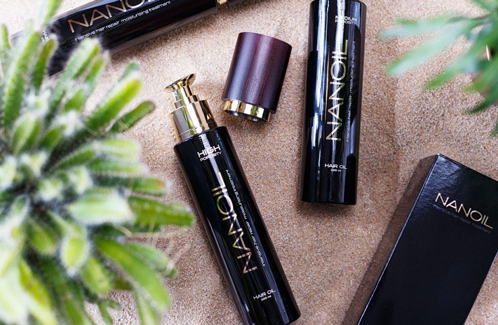 olejki do włosów Nanoil średnio i wysokoporowate włosy